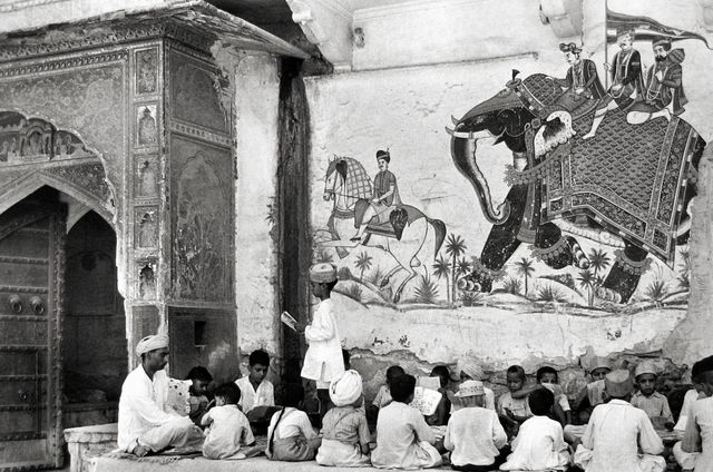 , 'Pavement School, India,' 1948, Peter Fetterman Gallery