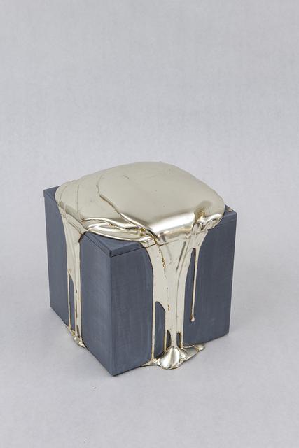 Nancy Lorenz, 'White Gold Pour Box', 2019, Mixed Media, White gold leaf, gesso, and pigment on paulownia box, Gavlak