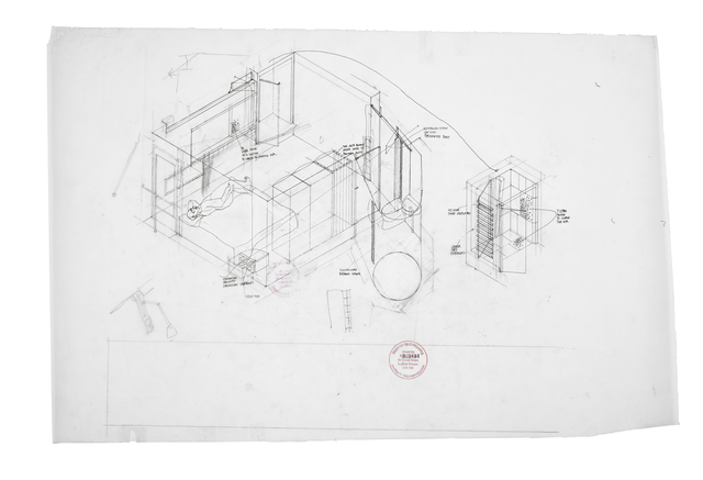, 'Preliminary axonometric of House 3 second bedroom (1:20) ,' 2008, Piano Nobile