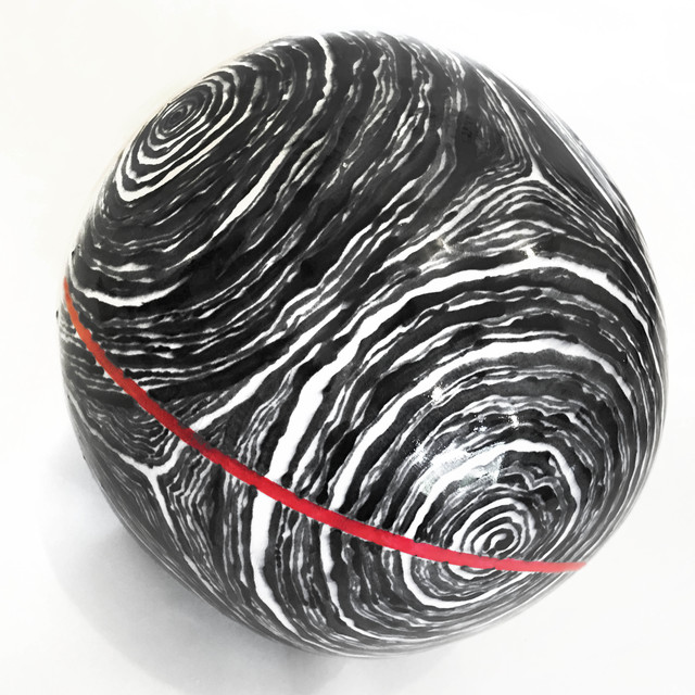 , 'B & W Loose Stripe Ball  with Red Meridian,' , galerie 103