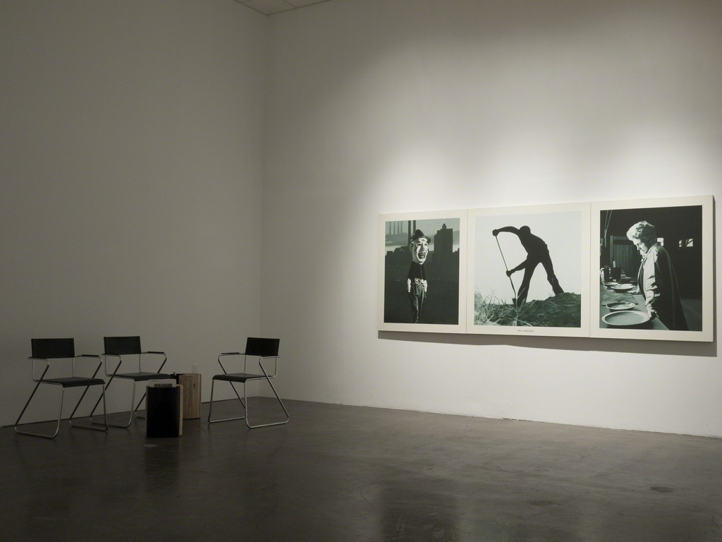 "Installation view of Martin Mull, ""Split Infinitives,"" as Samuel Freeman, November, 2010."