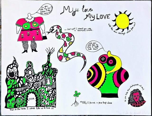 Niki de Saint Phalle, 'My Love, My LOVE', 1968, Alpha 137 Gallery