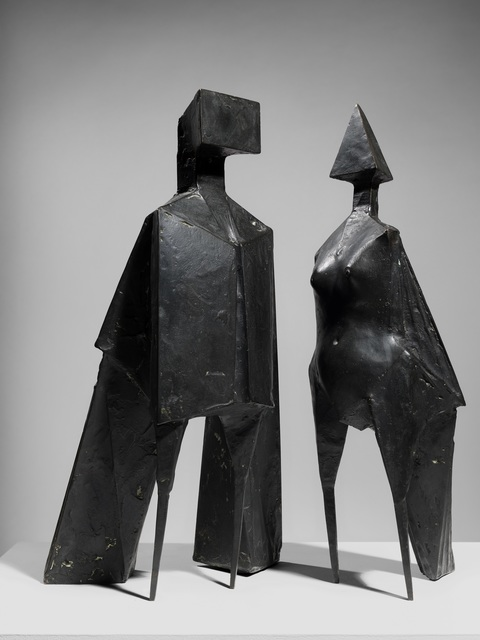 , 'Maquette V Two Winged Figures,' 1973, Osborne Samuel