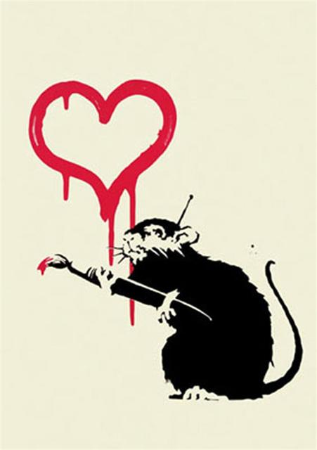 Banksy, 'Love Rat - Unsigned', 2004, Hang-Up Gallery