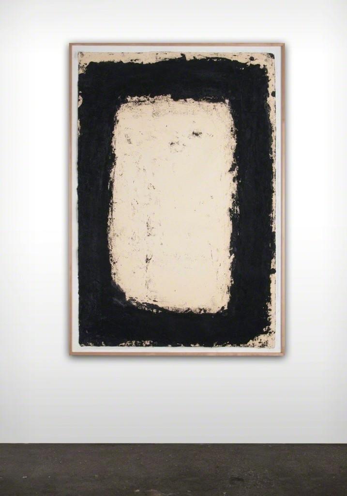 Richard SERRA  Foot Cape III, 1994  Paintstick on handmade paper  60 x 42 inches Unsigned
