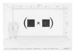 Horacio Zabala, 'Anteproyecto para dos monocromos, paréntesis y signo de multiplicar', 2014, Henrique Faria Fine Art