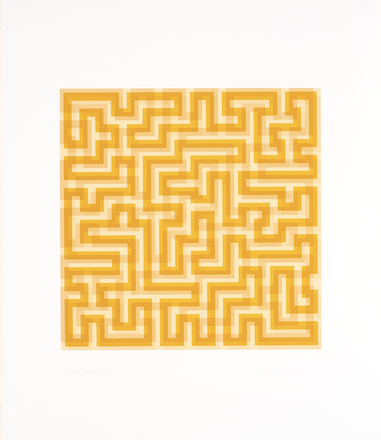 , 'Orange Meander,' 1970, Cristea Roberts Gallery