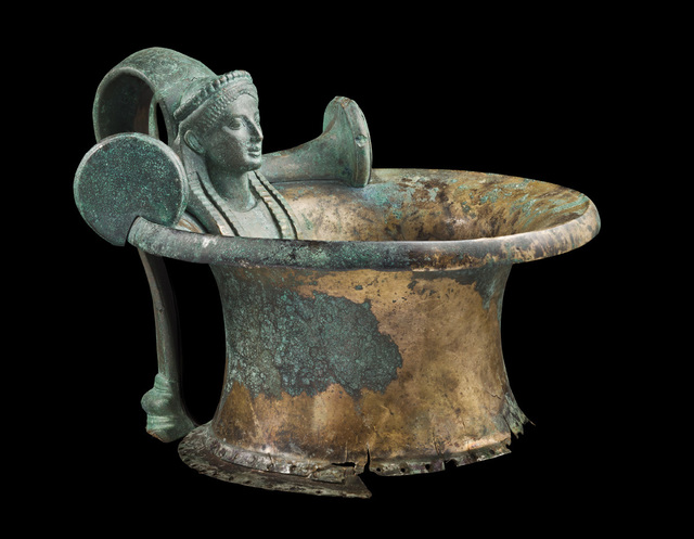 , 'BRONZE HYDRIA HANDLE AND NECK WITH THE BUST OF A KORE,' , Colnaghi