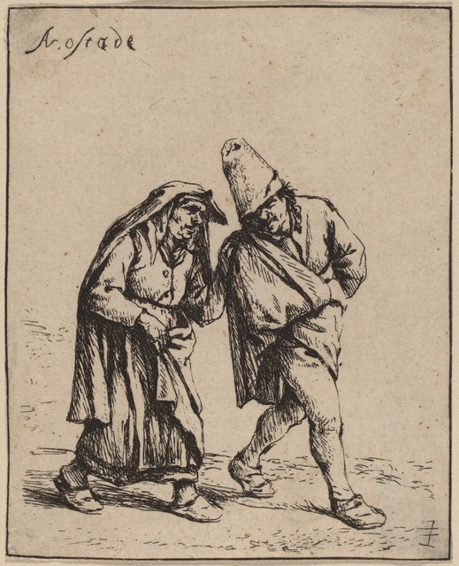 Adriaen van Ostade, 'Couple Walking', probably 1638, National Gallery of Art, Washington, D.C.