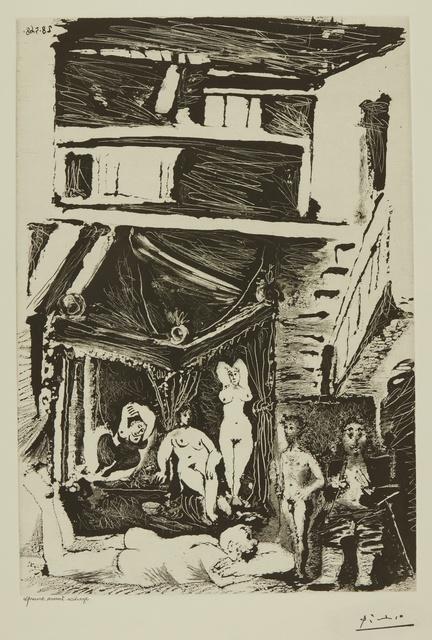 Pablo Picasso, 'Vieil homme songeant à sa vie... (B. 1604; Ba. 1619)', 1968, Print, Sugar-lift aquatint, Sotheby's