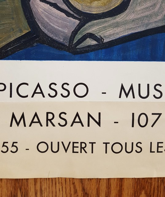 Pablo Picasso, 'Dora Maar (Femme Assise)', 1955, Posters, Lithograph, Exhibition Poster, Graves International Art