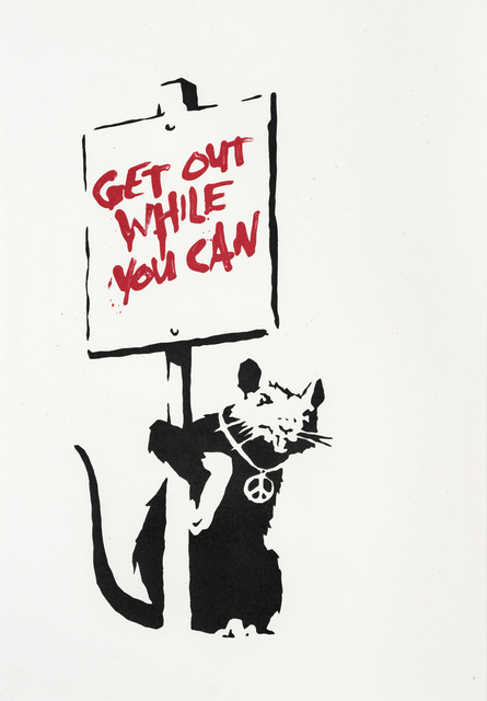 Banksy, 'Get Out While You Can (Red)', 2004, Tate Ward Auctions