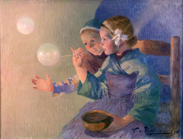 Ferdinand du Puigaudeau, 'Les Bulles de Savon', 1896, Guarisco Gallery