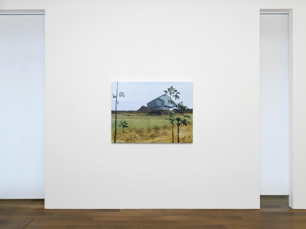 "Exibition view, Dean Monogenis, ""Metafiction"", Galerie Xippas, Geneva, Switzerland, 2017. ©Annik Wetter"