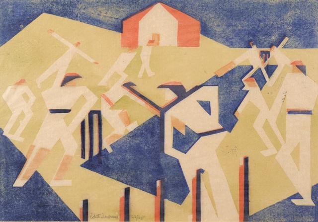 , 'The Cricket Match,' ca. 1929, Osborne Samuel