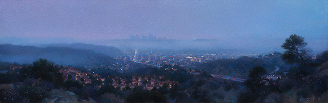 , 'City Lights from the Glendale Hills,' 2017, Craig Krull Gallery
