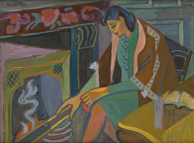 , 'Simone devant la cheminée,' ca. 1948, Waterhouse & Dodd