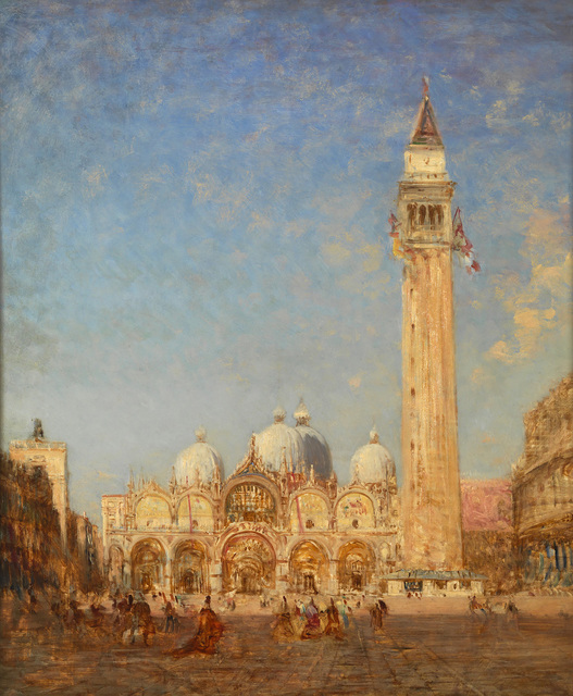 , 'Piazza San Marco and Campanile,' 1880-1890, Pera Museum