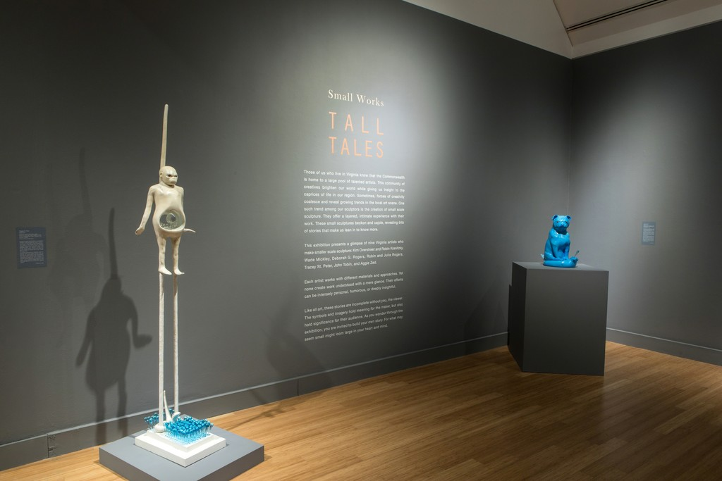 Small Works, Tall Tales. Installation view at the Virginia Museum of Contemporary Art. Photograph by Glen McClure