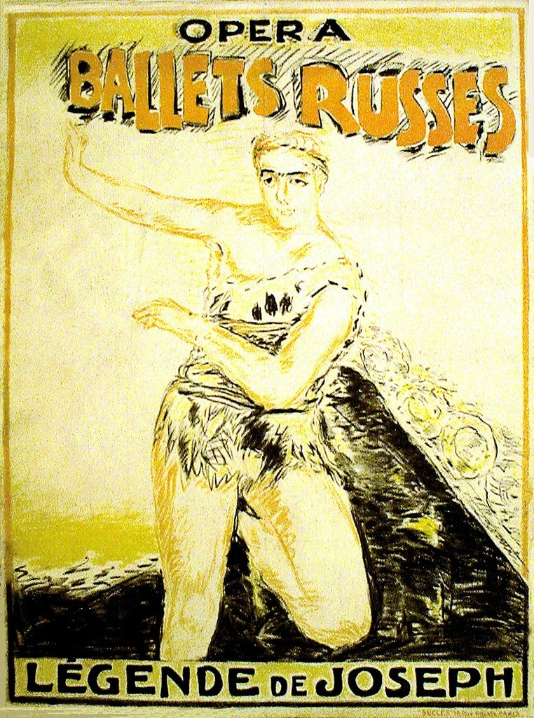LEGENDE DE JOSEPH / DIAGLIEV'S BALLETS RUSSES, 1914 This is one of the most important posters in our collection. Ballet Russes, danced & choreographed by Leonide Massine, music by Richard Strauss and poster by Pierre Bonnard.