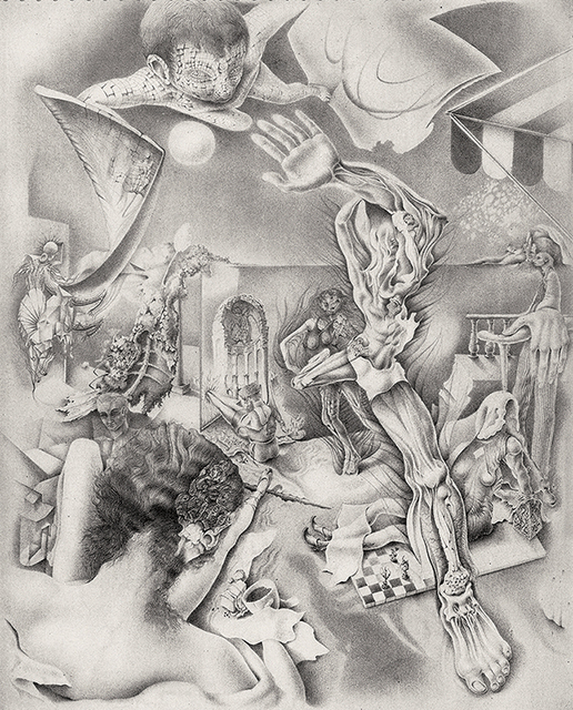 , 'Untitled [Courtyard with Morphing Figures],' 1945, Francis M. Naumann Fine Art