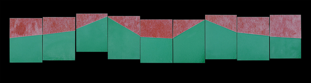 , 'Cutting Fractions (red & green),' 2019, Haw Contemporary