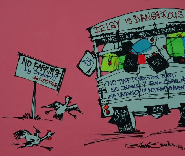 , 'Delay is Dangerous,' 2014, Society of Nigerian Artists