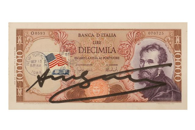 Andy Warhol, 'Signed Diecimilia Lire', 1980, Chiswick Auctions