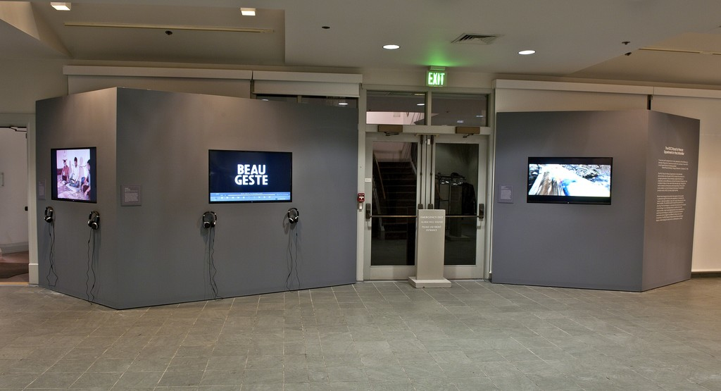 """Installation view of """"The ROCI Road to Peace: Experiments in the Unfamiliar"""" at the Academy Art Museum, Easton, 2015-2016. Photo: George Holzer"""