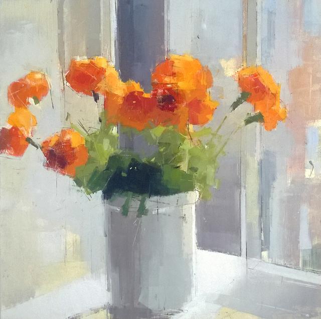 , 'Orange Flowers,' 2013, Kathryn Markel Fine Arts