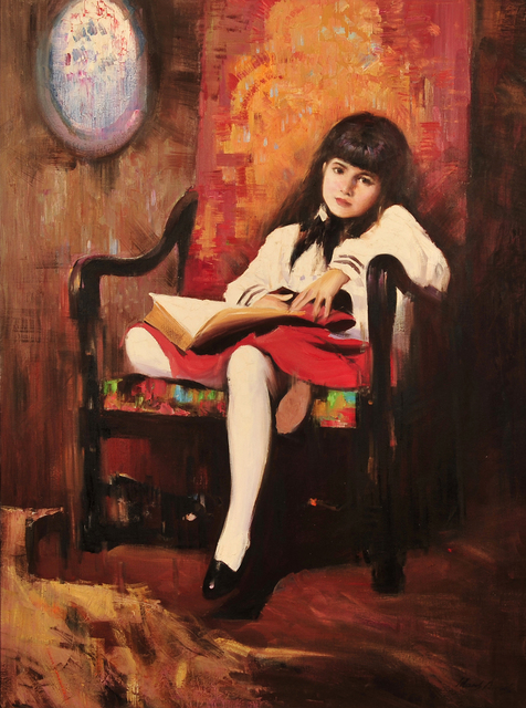 Hans Amis, 'Portrait of Girl in Red Chair', The Illustrated Gallery