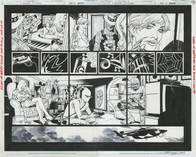, 'SEVEN SOLDIERS OF VICTORY (2005) #0, pgs 18 & 19 Full team double-page splash by J.H. Williams III & Grant Morrison,' 2005, Gallery 30 South