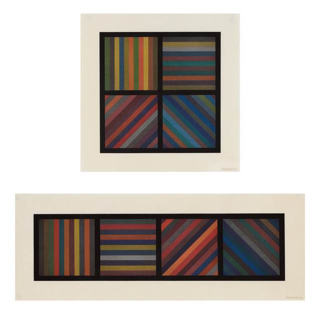 , 'Bands of Lines in Four Directions,' 1993, Sims Reed Gallery