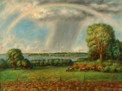 , 'Rainbow and View of Madison ,' 1937, Kiechel Fine Art