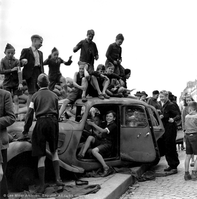 , 'Children celebrating the liberation of Paris, France,' 1944, °CLAIR Galerie