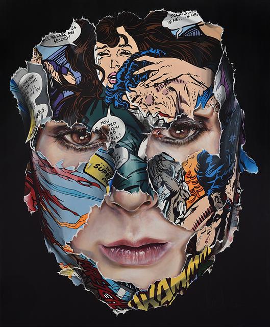 , 'La Cage et cette larme qui vit dans mon âme (self-portrait),' 2017, Galerie C.O.A