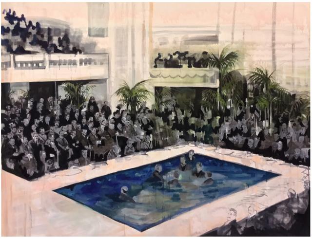 Elizabeth Schwaiger, 'Pool Crowd', 2016, Jane Lombard Gallery