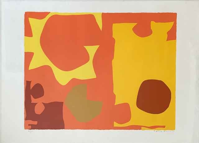 Patrick Heron, 'Six in Light Orange with Red in Yellow (April 1970) ', 1970, Fairhead Fine Art Limited