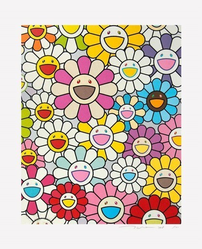 Takashi Murakami, 'A Little Flower Painting: Pink, Purple and many other colours (silver) ', 2018, Lougher Contemporary