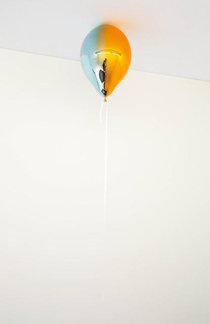 , 'Light Blue and Medium Orange Mirror Balloon (vertical),' 2019, Galleri Nicolai Wallner