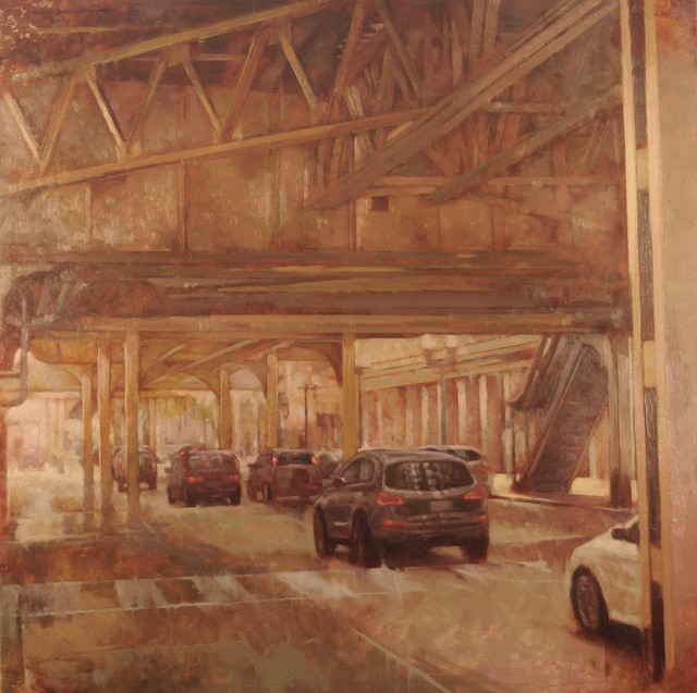 ", '""Under the EL"",' 2018, Bonner David Galleries"
