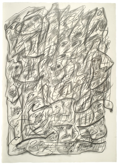 , 'Untitled (Vertical Abstract with Faces),' 1996, Ricco/Maresca Gallery