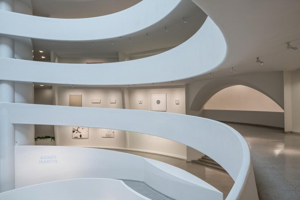 Installation View: Agnes Martin, Solomon R. Guggenheim Museum, New York, October 7, 2016– January 11, 2017. Photo: David Heald