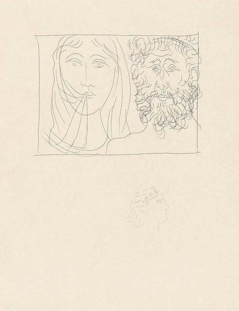 Pablo Picasso, 'Head of a Man and a Woman', 1930, Wallector
