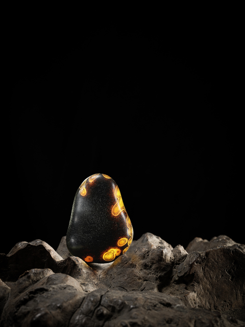 , 'A black and golden agate pebble 葫形瑪瑙卵石,' , Rasti Chinese Art