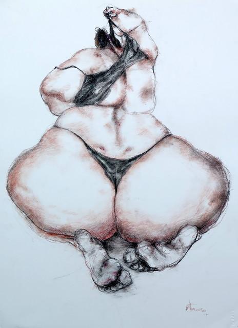 , 'Nude (dressing),' 2017, Sapar Contemporary