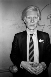 Andy Warhol at the Mudd Club, NYC