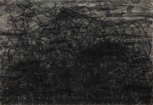 Hori Kosai, 'Touching so close and having an openness - 4', 2021, Painting, Japanese ink, charcoal, Japanese paper, canvas, Mizuma Art Gallery