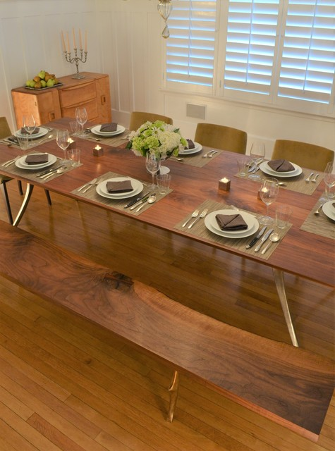 , 'Cast/Mill Dining Table, Claro Walnut,' , blankblank