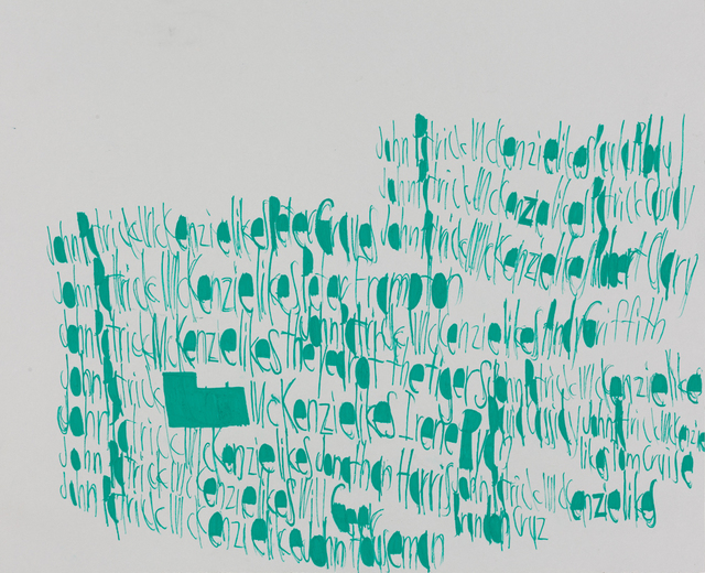 , 'John McKenzie likes Paula Abdul,' 2015, Creativity Explored